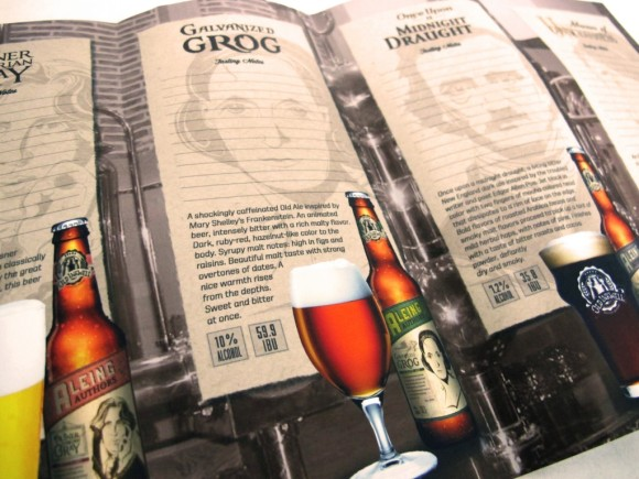brochure, craft beer design, print design